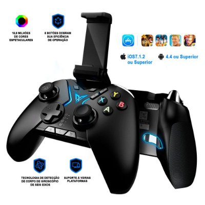 Controle Flydigi Apex RGB Bluetooth Android / iOS Tablet TV Box PC Steam PUBG / COD / PES