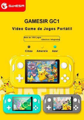 "Vídeo Game Portátil Gamesir GC1 Tela 3.5"" IPS 4GB +1000 Jogos Arcade FC Retro GBA"