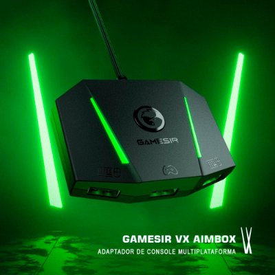 Conversor Adaptador GameSir VX AimBox Para Teclado e Mouse Nintendo Switch / Xbox Series X/S / Xbox One / PS4 / PS5