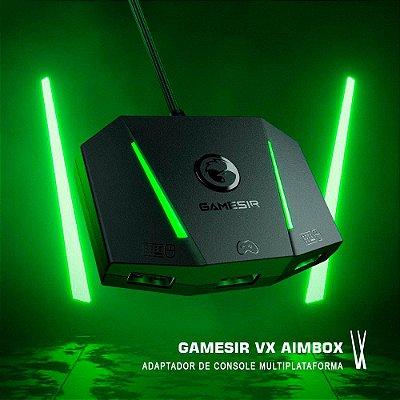 Conversor Adaptador GameSir VX AimBox Para Teclado e Mouse Nintendo Switch / Xbox Series X/S / Xbox One / PS4 / PS5