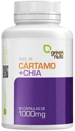 Óleo de Cártamo + Chia - 60 cápsulas - Green Nutri