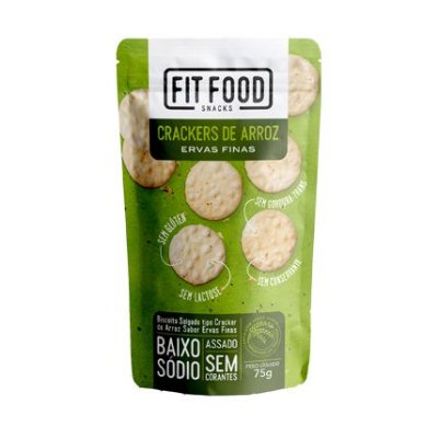 Crackers de arroz (Ervas Finas) 75g - Fit Food