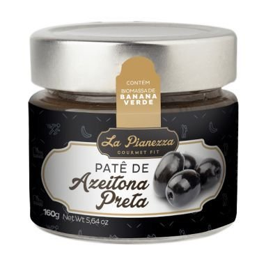 Patê de Azeitona Preta - 160g - La Pianezza