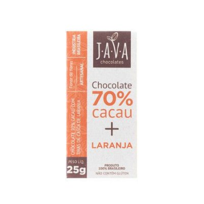 Chocolate 70% Cacau (Laranja) 25g - Java Chocolates