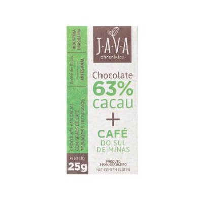 Chocolate 63% Cacau (Café) 25g - Java Chocolates