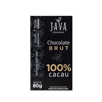 Chocolate BRUT (100% Cacau) 80g - Java Chocolates