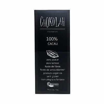 Chocolate 100% Cacau - 72g - Chokolah