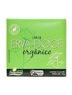Chá de Erva Doce c/ 10 sachês (Orgânico) 10g - Campo Verde