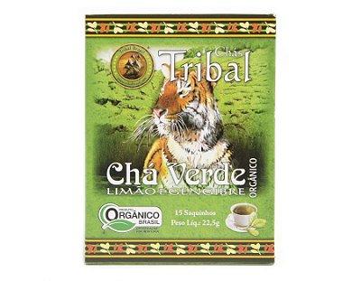 Chá Misto Orgânico c/ 15 sachês (Chá Verde, Limão e Gengibre) 15g - Tribal