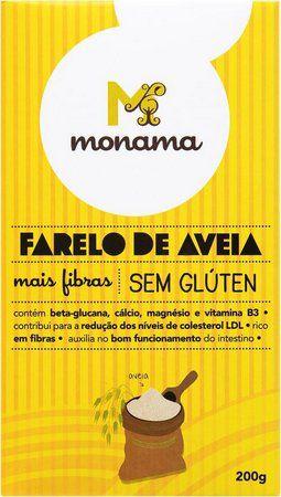 Farelo de Aveia com Fibras (Sem Glúten) 200g - Monama