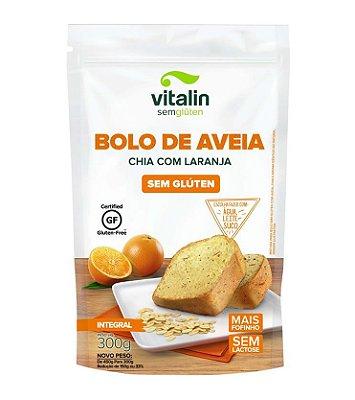 Mistura para Bolo de Aveia Sem Glúten (sabor Chia e Laranja) 300g - Vitalin