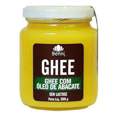 Ghee com Óleo de Abacate (Sem Lactose) 200g - Benni