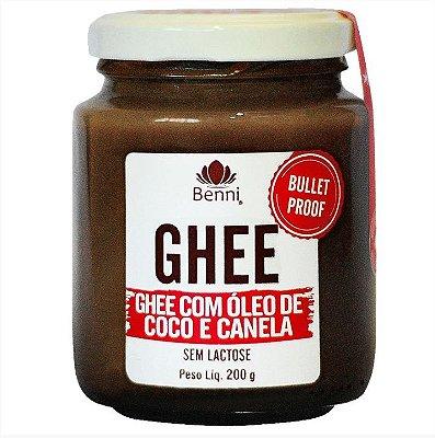 Ghee com Óleo de Coco e Canela (Sem Lactose) 200g - Benni