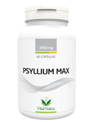 Psyllium Max - 60 Cápsulas (480mg) - Vital Natus