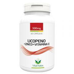 Licopeno + Zinco + Vitamina E - 60 Cápsulas (500mg) - Vital Natus