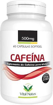 Cafeína - 60 Cápsulas (500mg) - Vital Natus