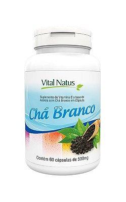 Chá Branco - 60 Cápsulas (500mg) - Vital Natus