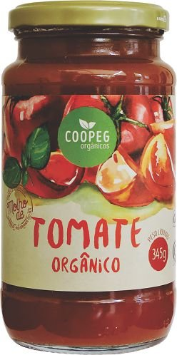 Molho de Tomate Italiano Orgânico - 345g - COOPEG