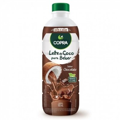 Leite de Coco para Beber - Sabor Chocolate - 900 ml - COPRA