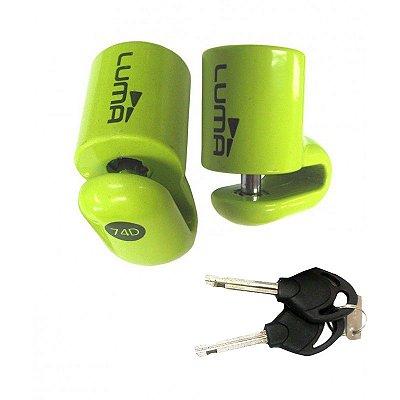 Cadeado Moto Trava De Disco Verde Pequeno 74D