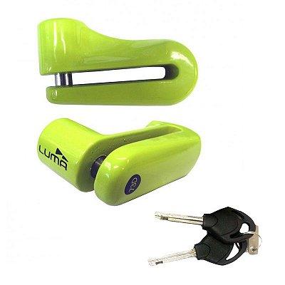 Cadeado Moto Trava De Disco Verde Grande 73D