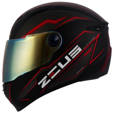 Capacete Zeus 811 EVO SPEED BLACK AL12 BLACK RED