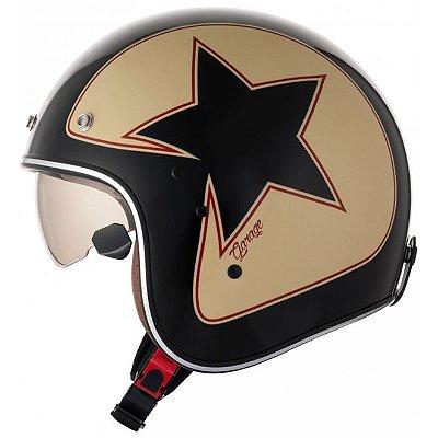 Capacete Zeus 380FA STAR Preto K56 Vermelho