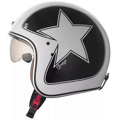 Capacete Zeus 380FA STAR Branco Pérola K56 Preto