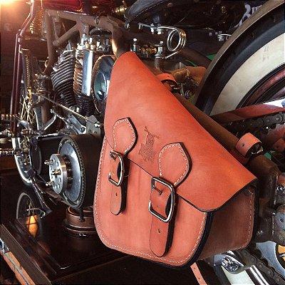 Bolsa lateral Solo bag padrão M2 para linha Softail em couro