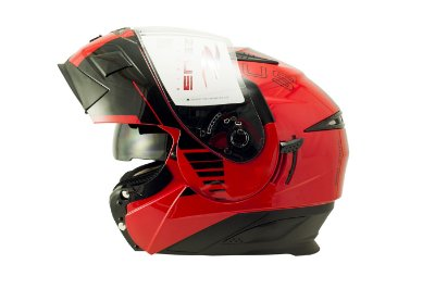 Capacete Zeus 3020 SOLID RED AB12 CRUISER BLK