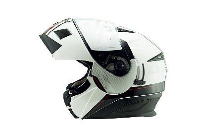 Capacete Zeus 3020 PEARL WHITE AB12 BLACK