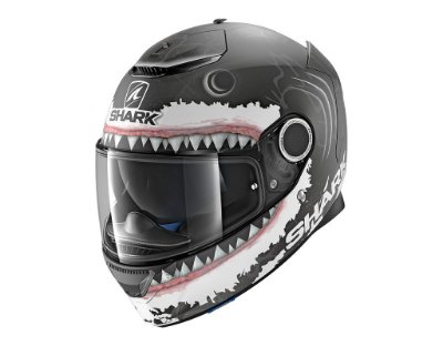 Capacete Shark SPARTAN REPLICA LORENZO WHITE SHARK MATT KWA