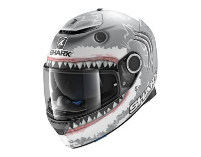 Capacete Shark SPARTAN REPLICA LORENZO WHITE SHARK MATT SWA