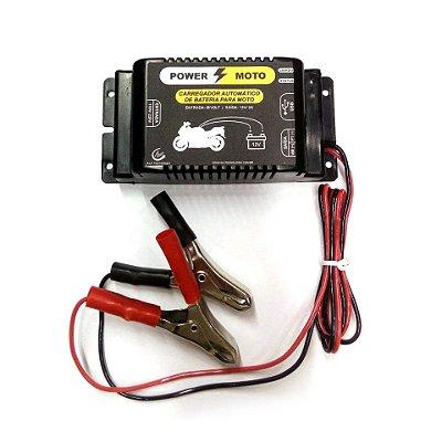 Carregador De Bateria Bivolt Inteligente 12V 2A Moto