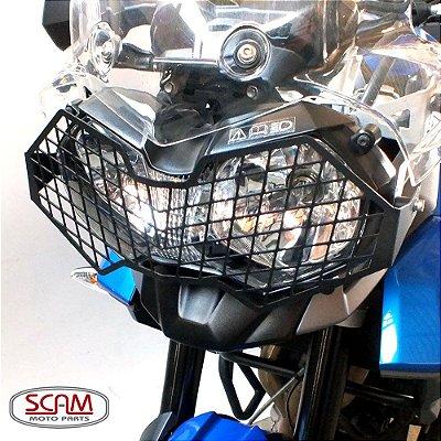 Protetor de Farol Triumph TIGER 800 Aço Carbono SCAM