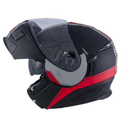 Capacete Zeus 3020 MATT BLACK AB11 RED