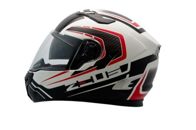 Capacete Zeus 813 AN15 SOLID WHITE / WHITE RED