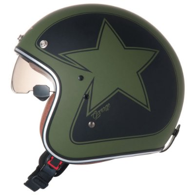 Capacete ZEUS 380FA STAR MATT Verde Fosco e Preto