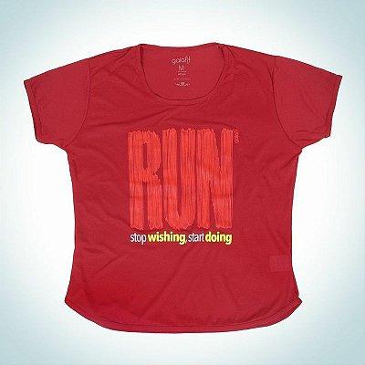 Camiseta modelo RUN - Baby look