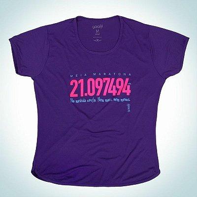 Camiseta modelo MEIA MARATONA - Baby look