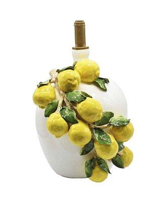 Base de abajur garrafão com aplicação de limões
