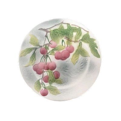 Prato sobremesa pintura cerejas