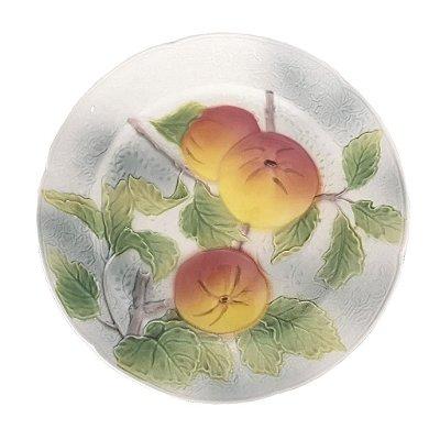 Prato raso pintura pêssegos
