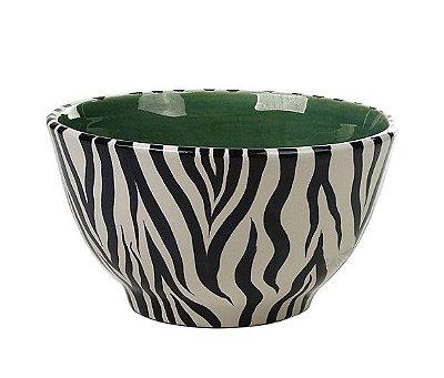 Cachepot P zebra com verde