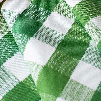 Toalha de mesa xadrez verde 3,5m x 1,5m