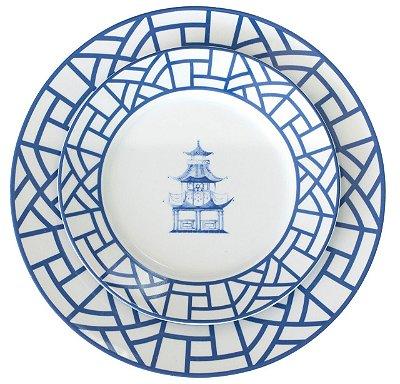 Pratos pagoda (18 peças)