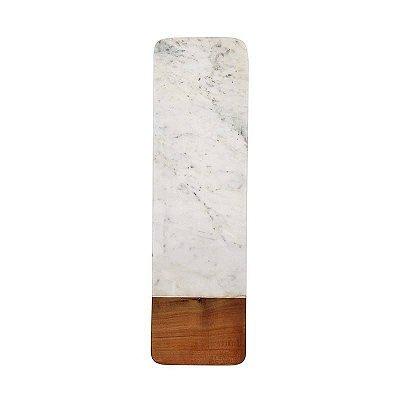 Tábua mármore e madeira longa
