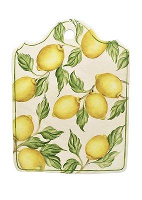 Tábua cerâmica G desenho limões - sob encomenda