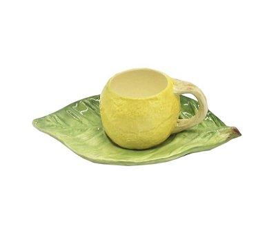 Xícara de café limão pires folha - sob encomenda