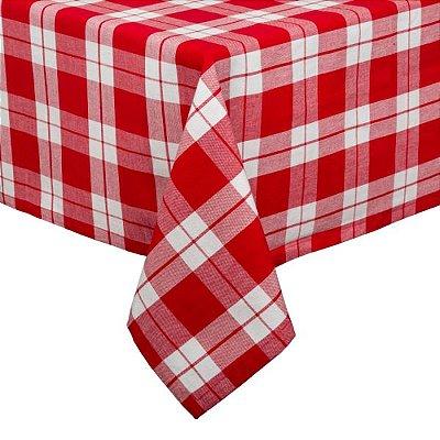 Toalha de mesa xadrez vermelha 1,80 x 1,80m